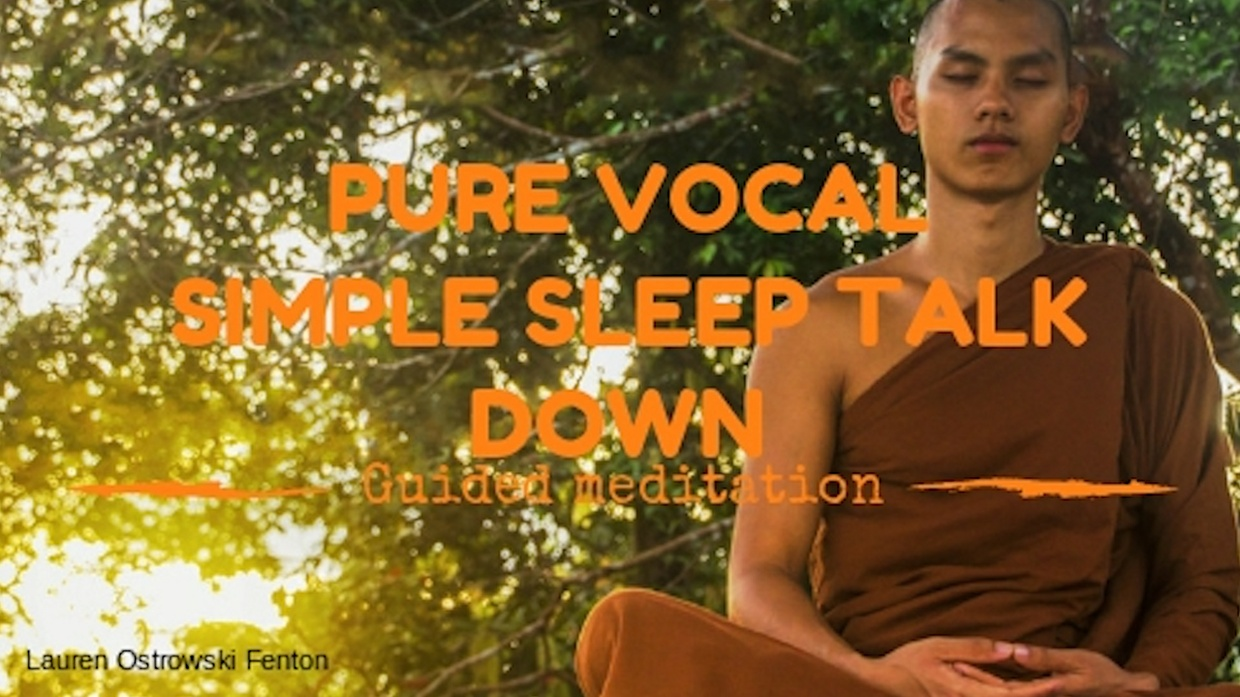 PURE VOCAL SIMPLE SLEEP TALK DOWN guided meditation so that you can fall asleep