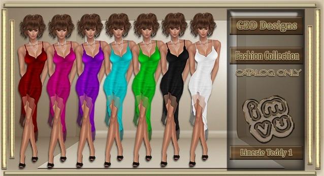 Lingerie Teddy Dress 1 CATALOG ONLY!!