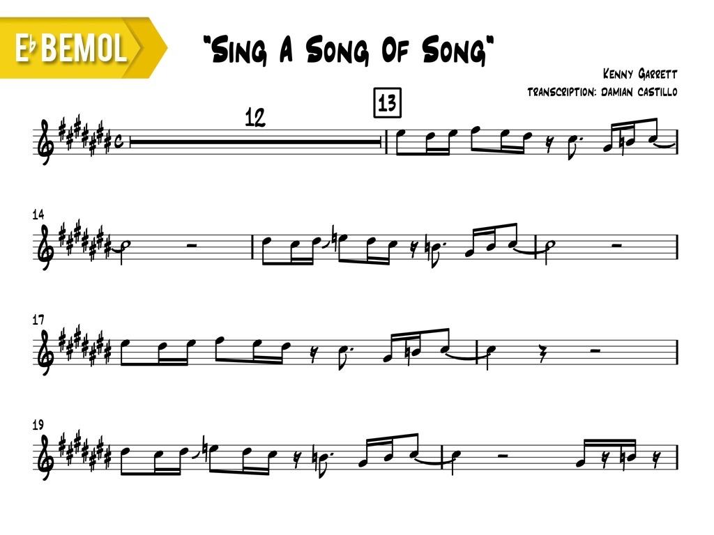 "Kenny Garrett - ""Sing A Song Of Song"" - Eb"
