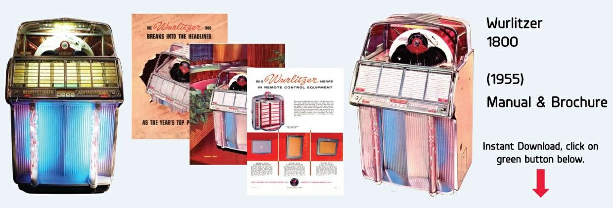 Wurlitzer Model 1800 (1955)  Manual & Full color Brochure