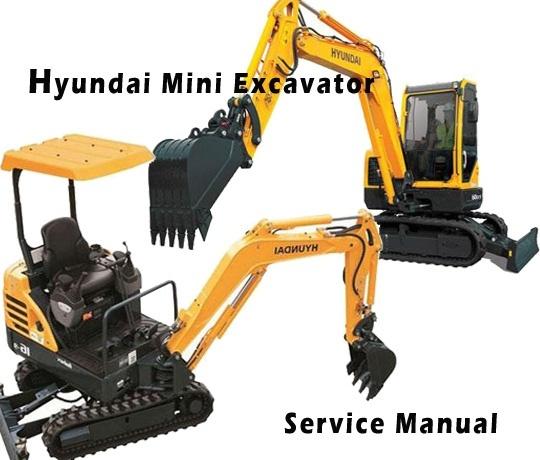 Hyundai Robex 35-7 R35-7 Mini Excavator Service Repair Manual Download (SER. NO. HY3570001~ )