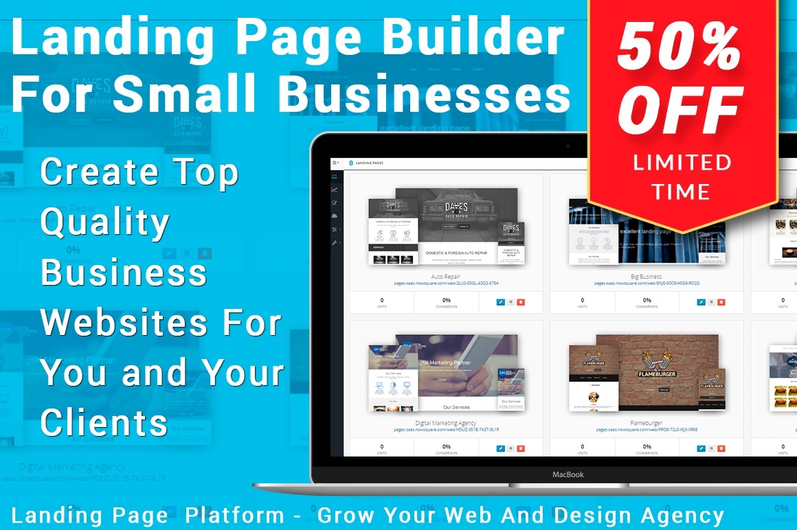 High Conversion Landing Pages SaaS Edition white-label Business-in-a-Box
