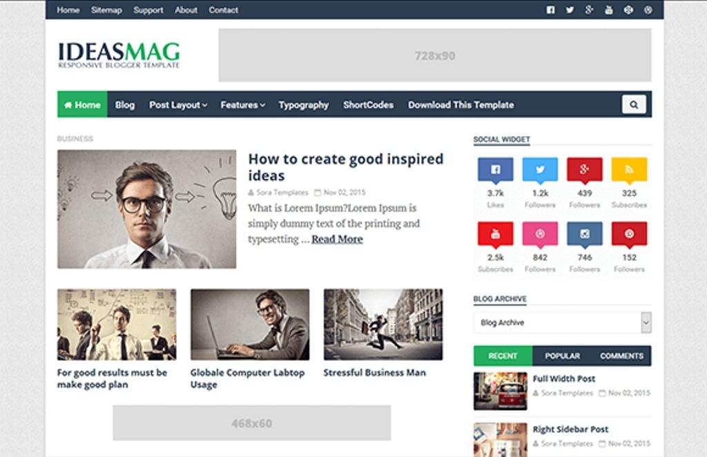 Ideas Mag Blogger Template Premium Version