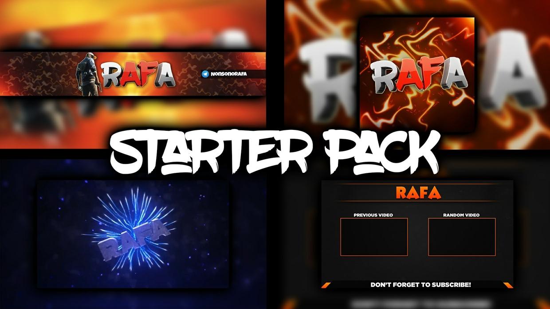 [STARTER PACK] YouTube Banner, Logo, Intro, Outro