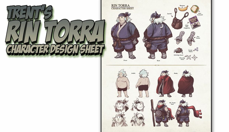 Trent S Rin Torra Character Design Sheet Lesson : Trent s rin torra character design sheet tutorial