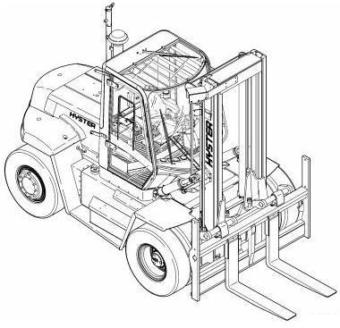 Hyster Forklift G007 Series: H170HD, H190HD, H210HD, H230HD, H250HD, H280HD Spare Parts List