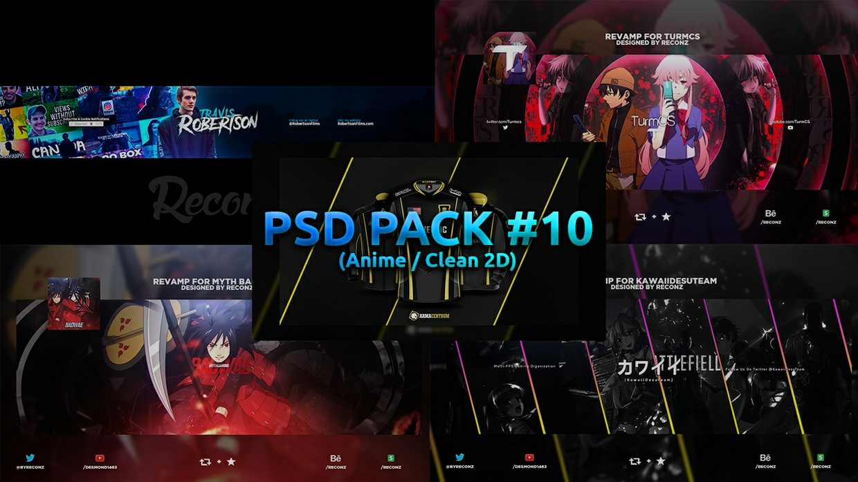 PSD Pack #10 (Anime + Clean 2D)
