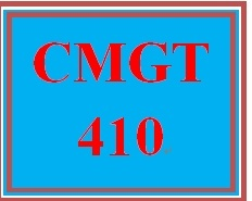 CMGT 410 Week 2 Scope and the WBS