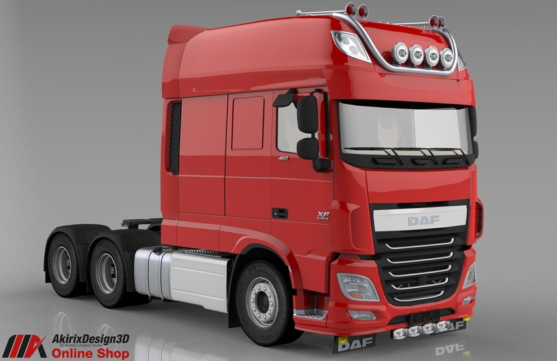 3D Daf XF 106 Longline Model