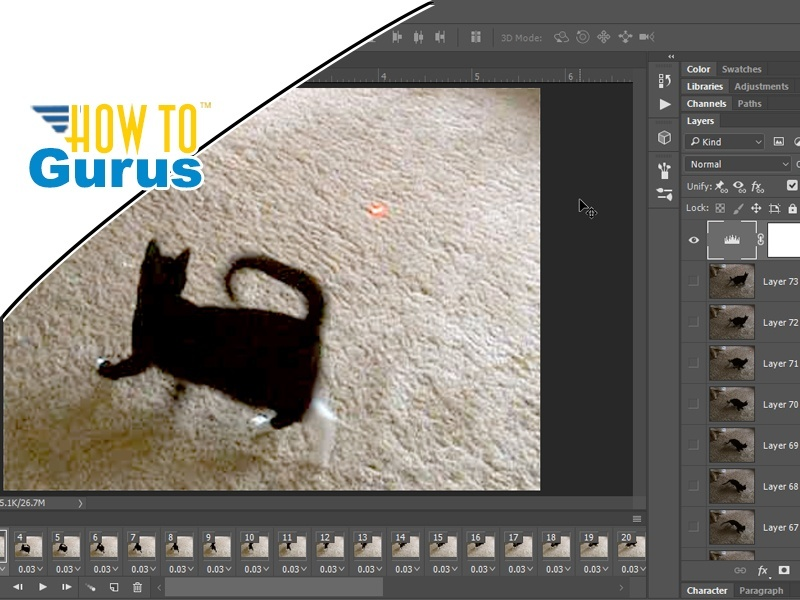How To Photoshop Gif Animation from Video Tutorial: Creating a Gif in CC 2017 CS6 CS5