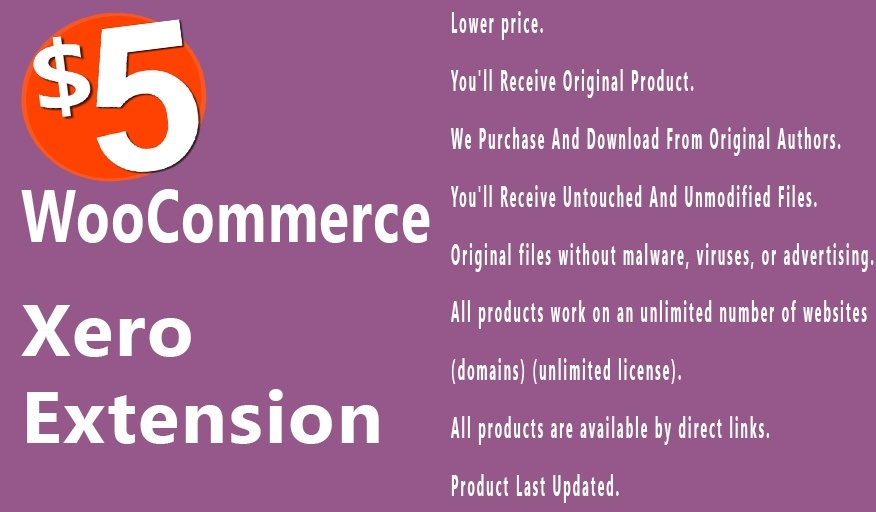 WooCommerce Xero 1.7.10 Extension