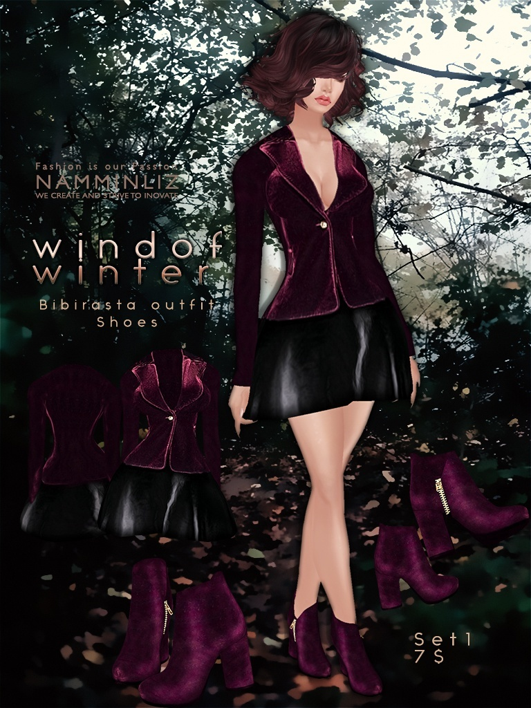 Wind of winter Full SET imvu bibirasta all sizes JPG texture NAMMINLIZ filesale