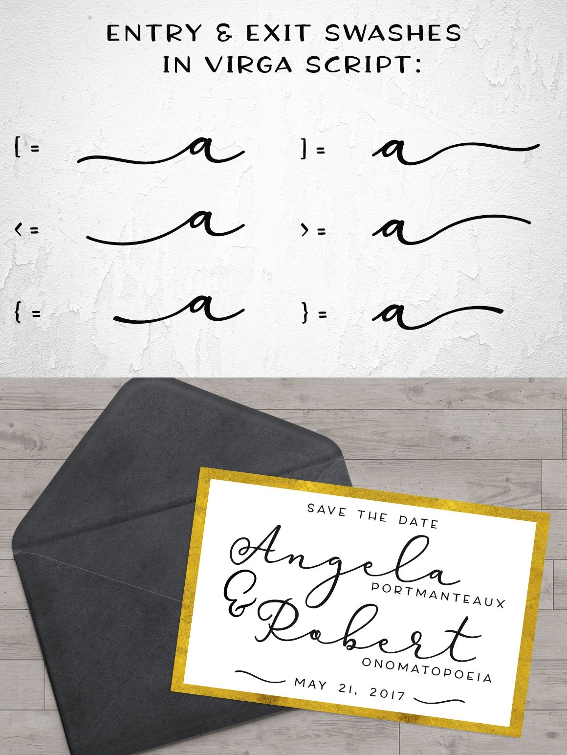 Virga: a smooth script font!