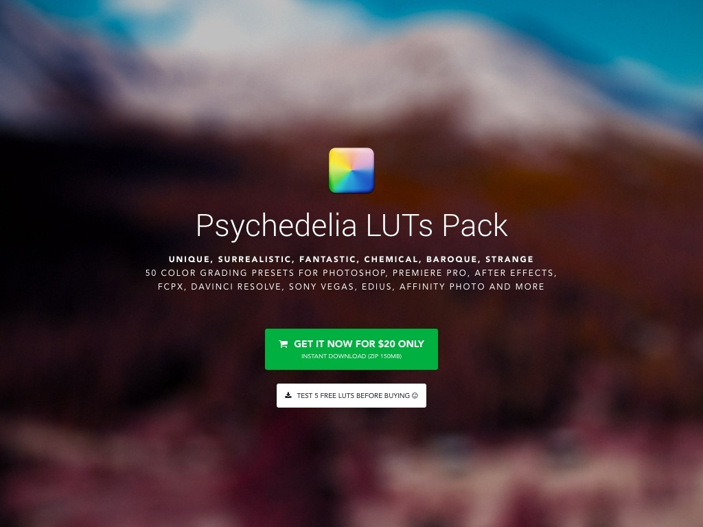 Psychedelia LUTs Pack