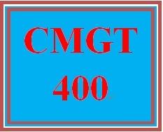 CMGT 400 Week 3 Individual: Securing and Protecting Information