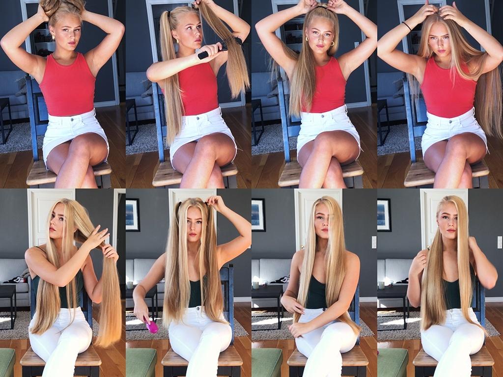 Christine Norwegian Blonde Beauty Hair Play