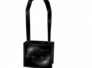Black pvc bow bag/purse