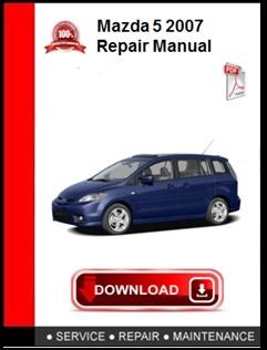 Mazda 5 2007 Repair Manual
