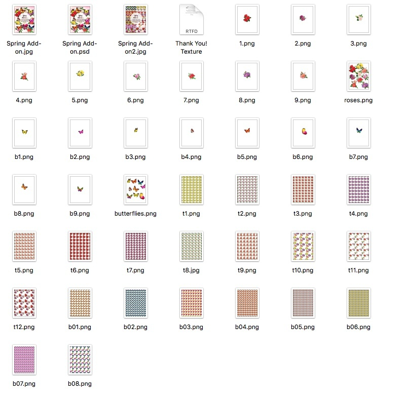 Spring Add-on isolated objects psd & Textures Transparent PNG