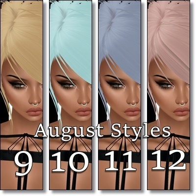 New August Hair Textures - 24 Total