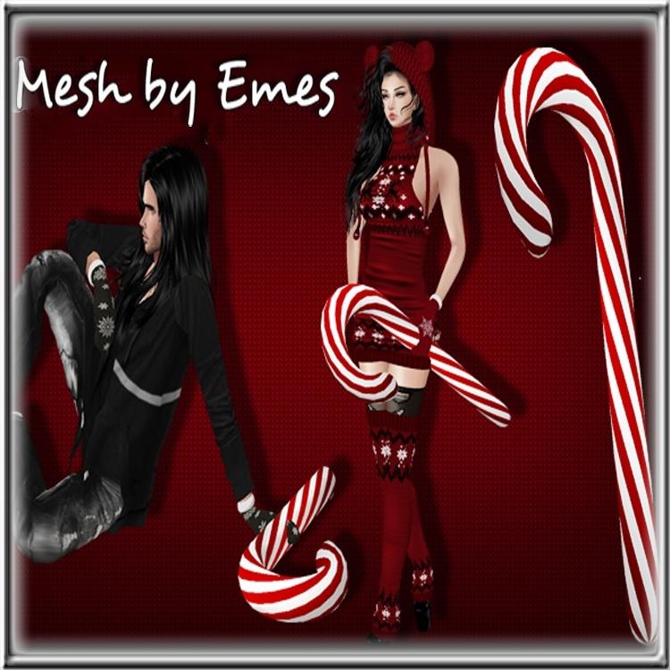 MESH-Candy Cane Unisex