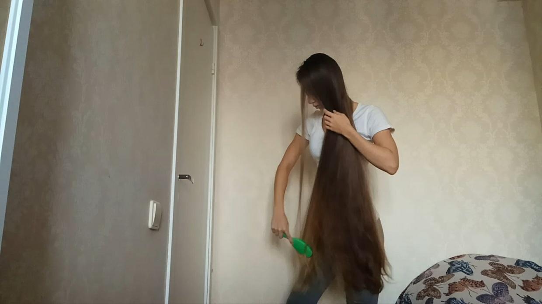 Long Hair Brushing and Sexy Hair Play