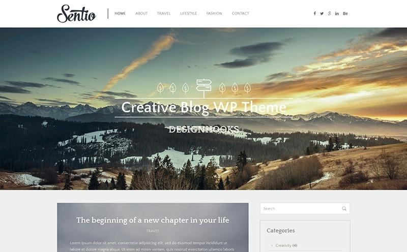 Sentio - free, clean responsive WordPress theme