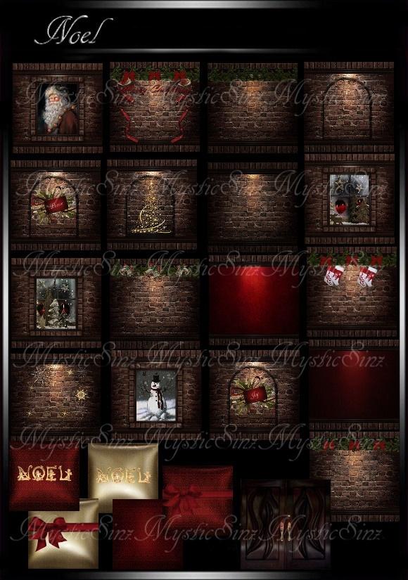 IMVU Noel Christmas Room Textures