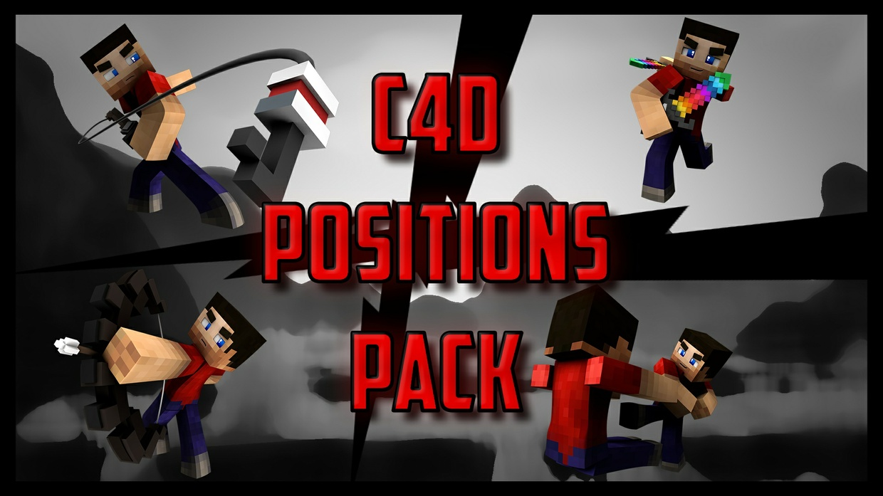 C4D Minecraft Positions Pack