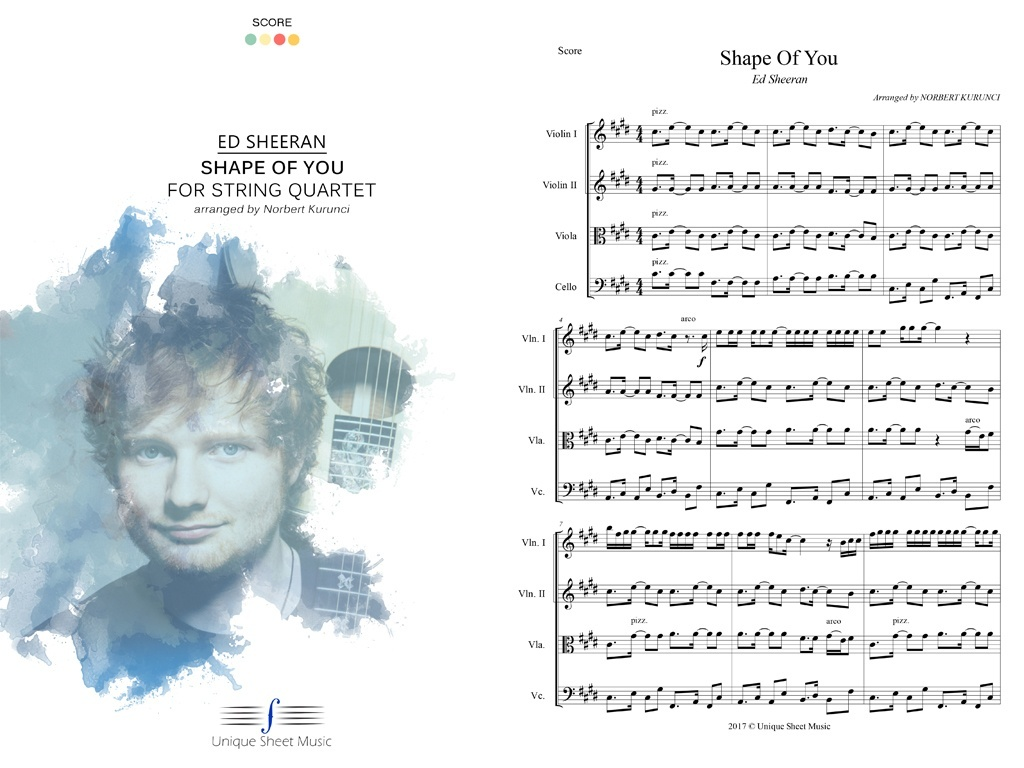 Ed Sheeran - Shape of You - Arranged for String Quartet