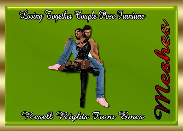 Loving Together Couple Pose Furniture Catty Only!!!