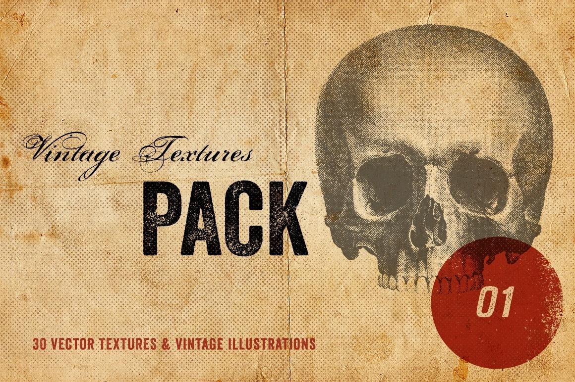 Vintage Textures Pack - 30 Vectors