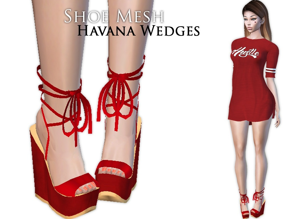 IMVU Mesh - Shoes - Havana Wedges