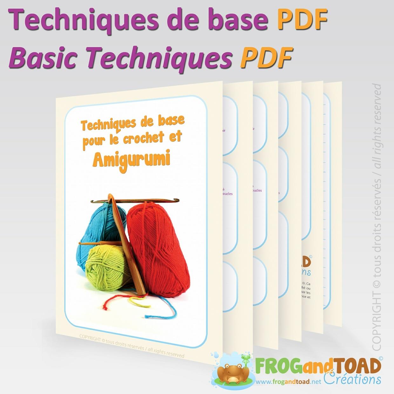 Techniques de base pour le crochet et amigurumi / Basic techniques of crochet and amigurumi.