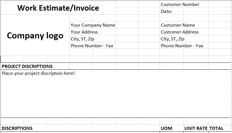 Invoice - Estimate General Template