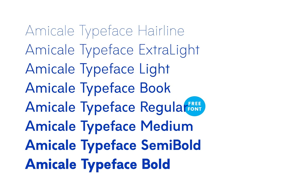 Amicale Typeface — Free Regular Weight