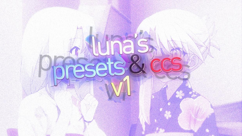 luna presets & cc pack #1
