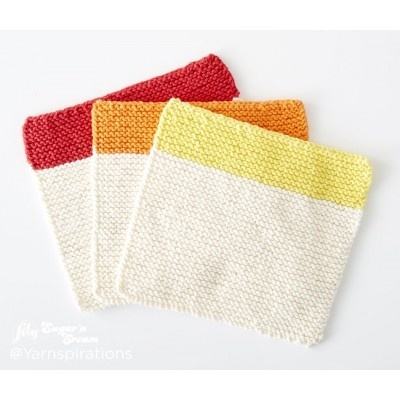 Quick Striped Knit Dishcloth