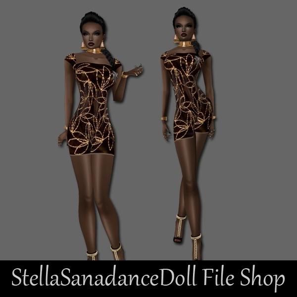 S61 Gold Dress
