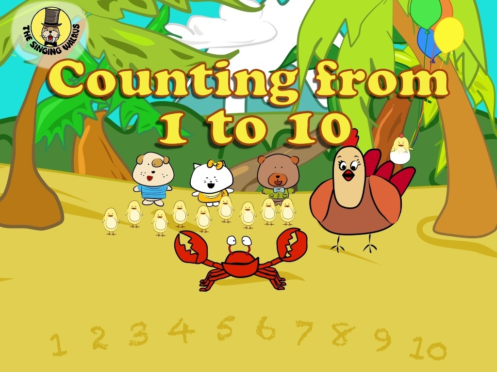 Counting from 1-10 video (mp4)