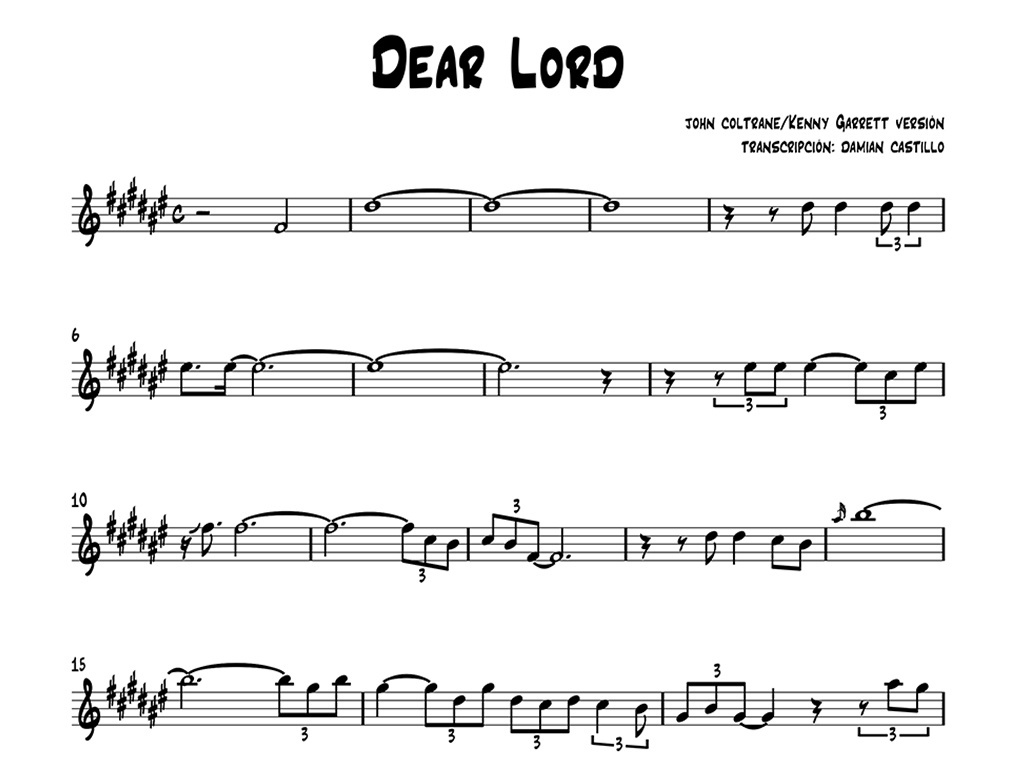 "Kenny Garrett - ""Dear Lord"" - Sax alto."