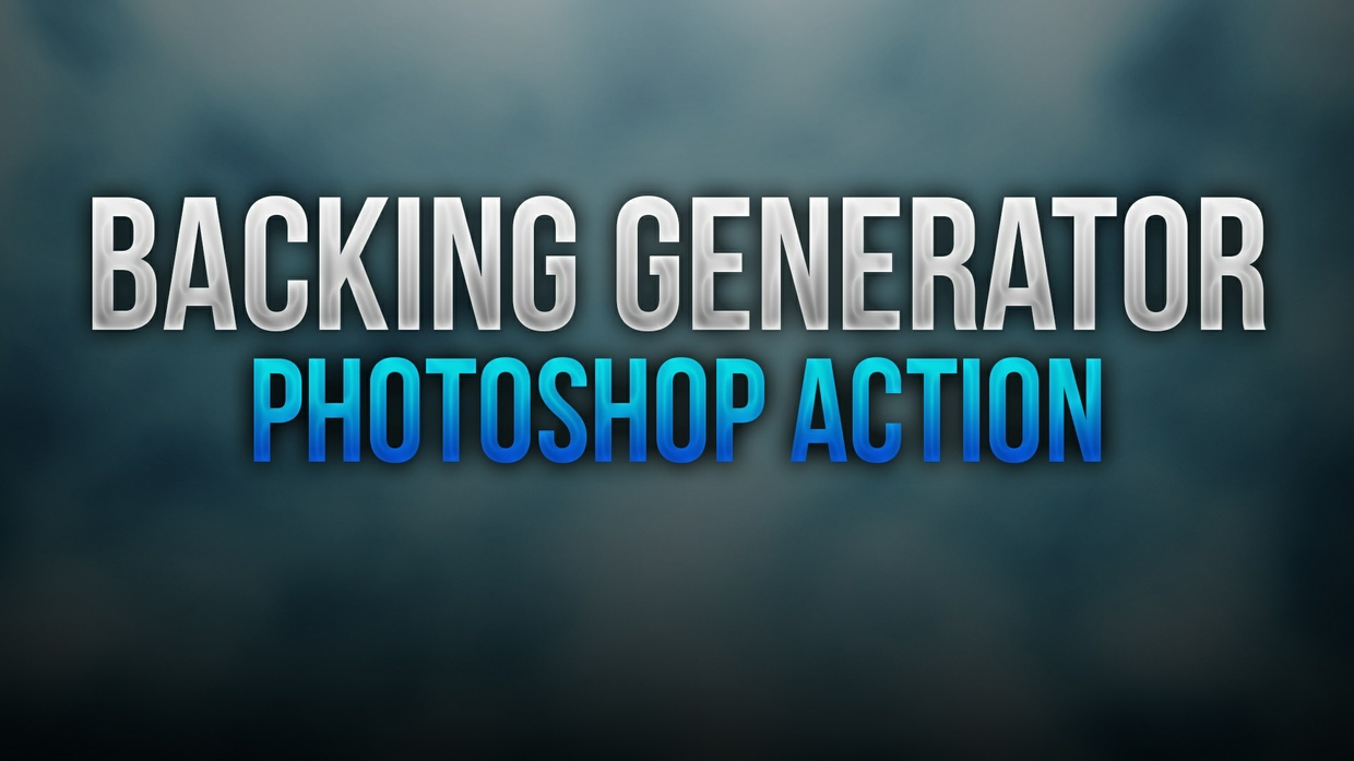 Backing Generator Photoshop Action