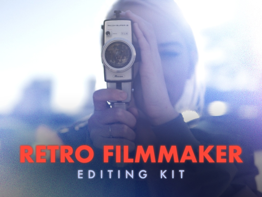Retro Filmmaker Editing Kit (Transitions, Light Leaks, Glitches and more)