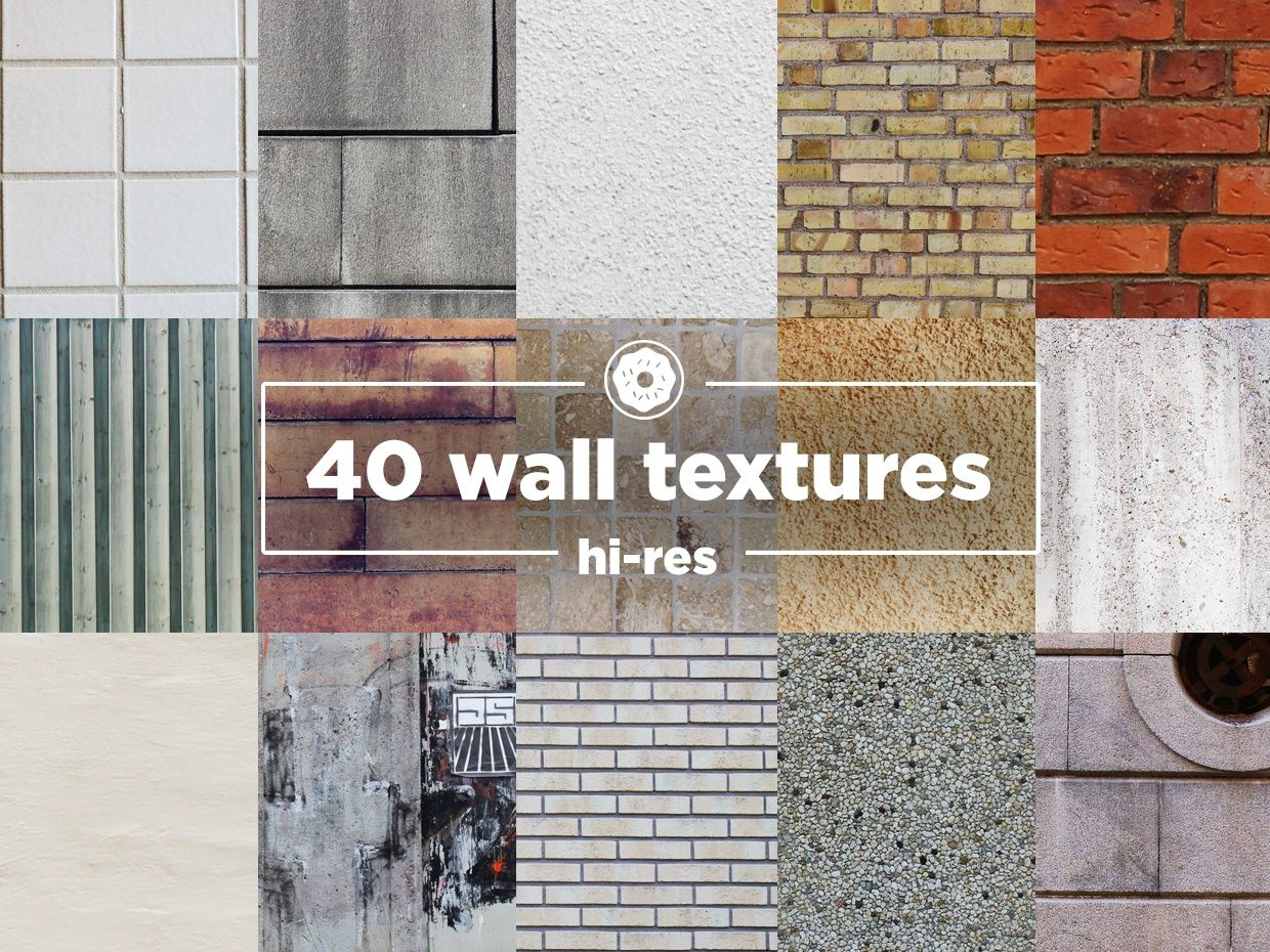 40 Hi-res wall textures Pack