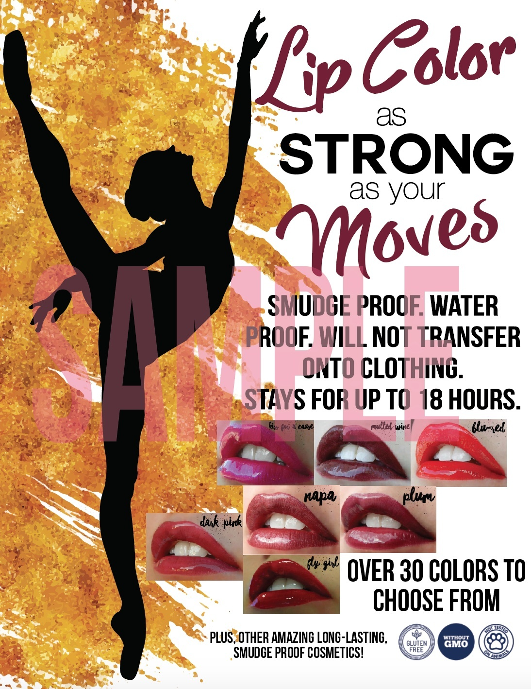 Long Lasting Lip Color - Dance Flyer