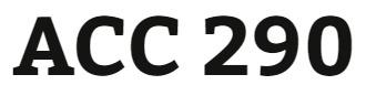 ACC 290 Week 1 Practice Quiz