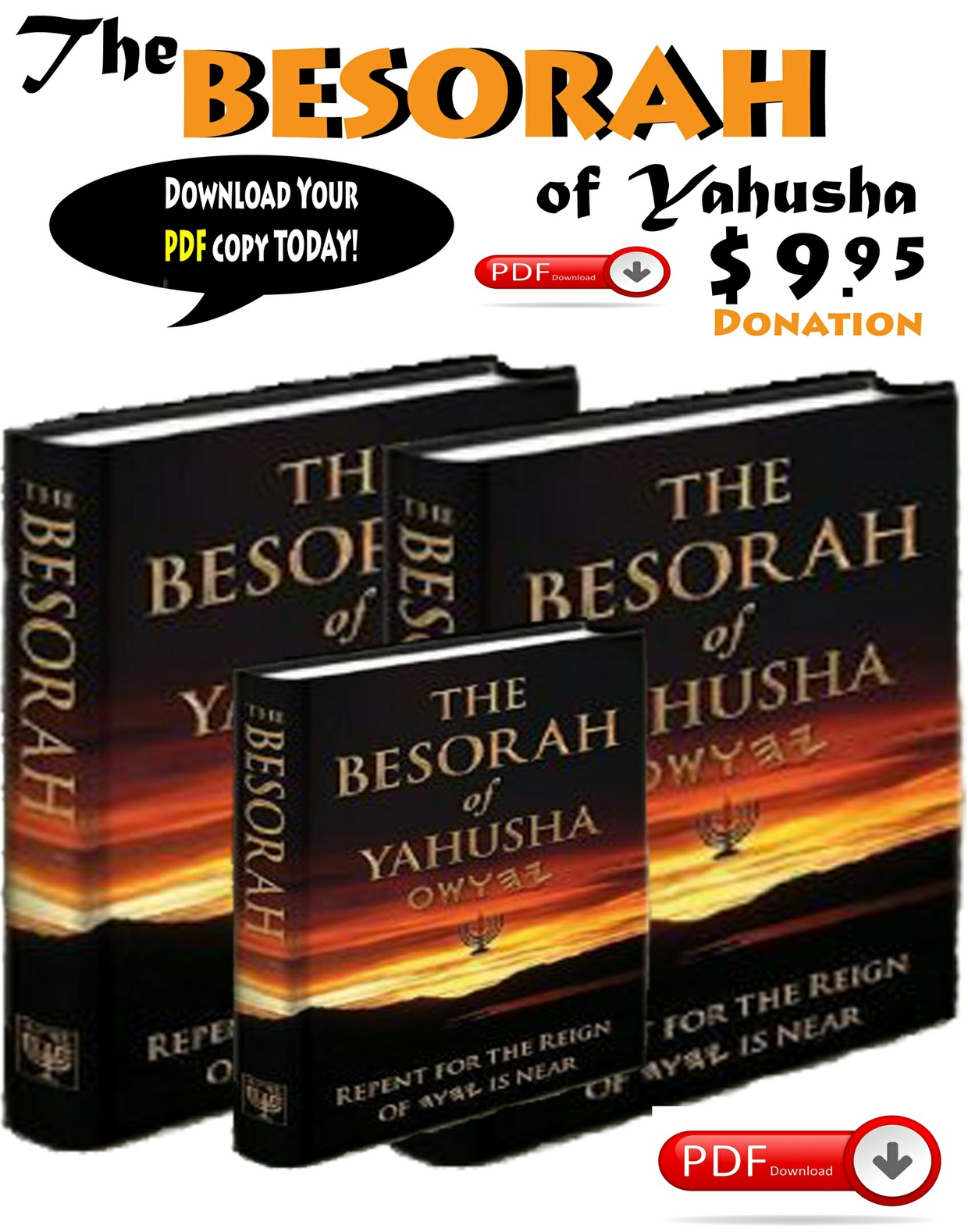 The Hebrew Besorah of Yahusha the Good News for the End Times!