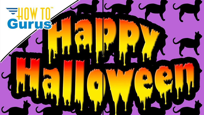 Photoshop Elements Drippy Text Effect : Happy Halloween Card 2018 15 14 13 12 11 Tutorial