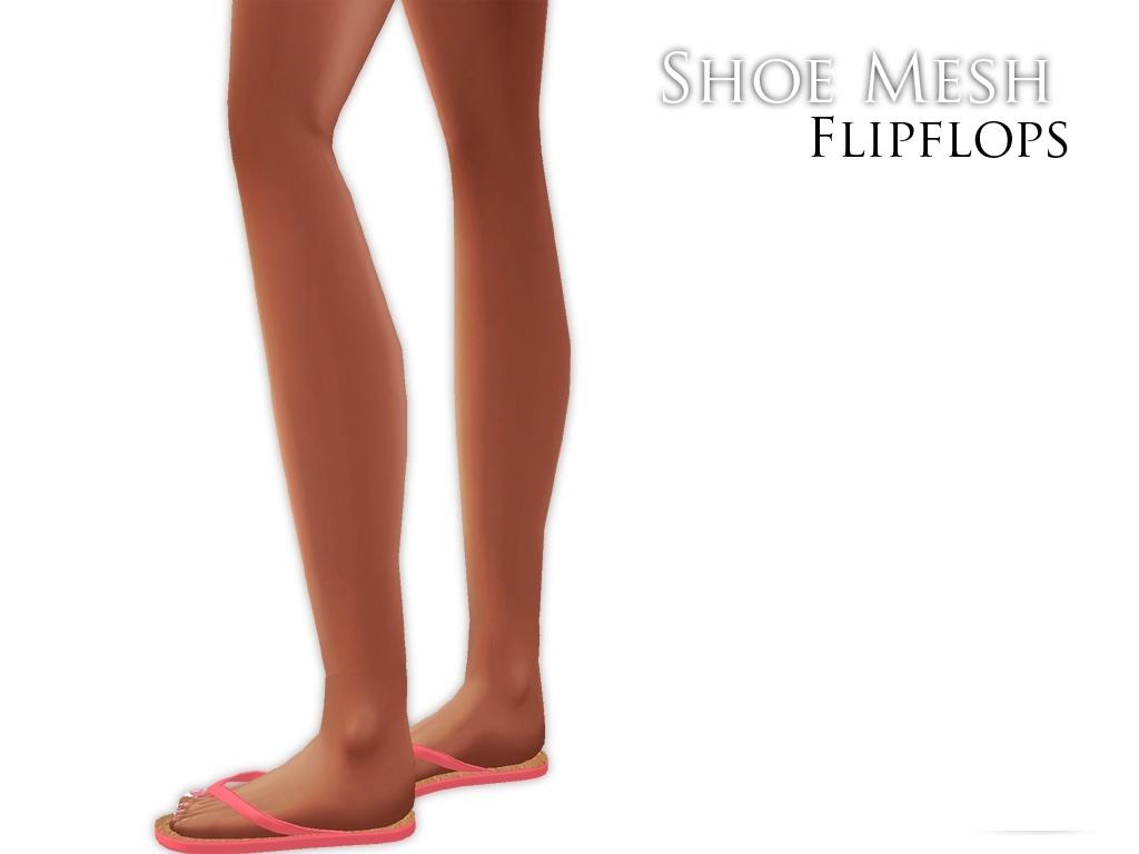 IMVU Mesh - Shoes - Flipflops (male&female)