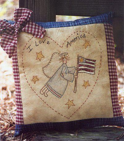 #323 I Love America E Pattern